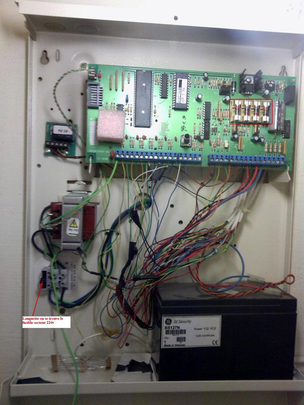 alarme cd34 fusibles