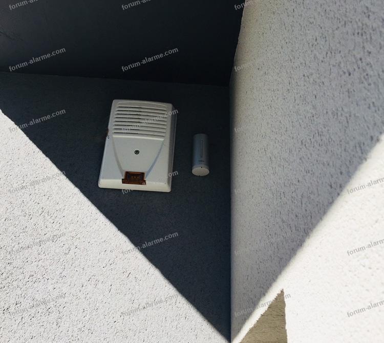 problème déconnection sirène extérieure