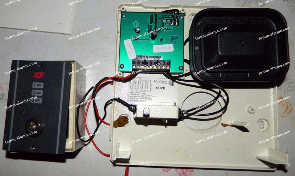 brancher détecteur infrarouge et sirène alarme