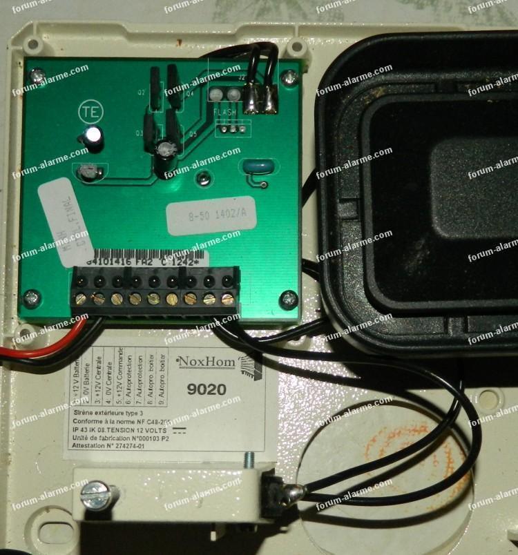 Brancher sirène et détecteur infrarouge