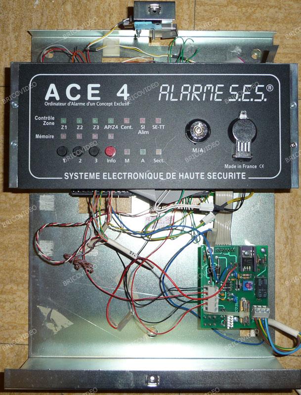 notice alarme SES centrale ACE 4 notice