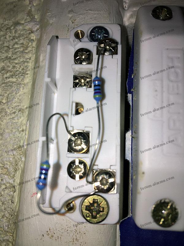 cablage detecteur mm201 aritech 01