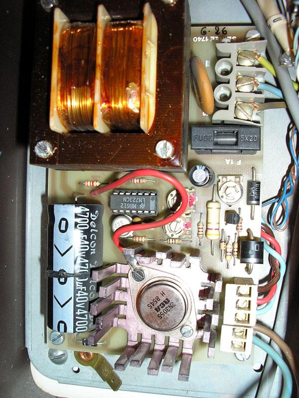 circuit coté composants alarme Seriee CSA 04