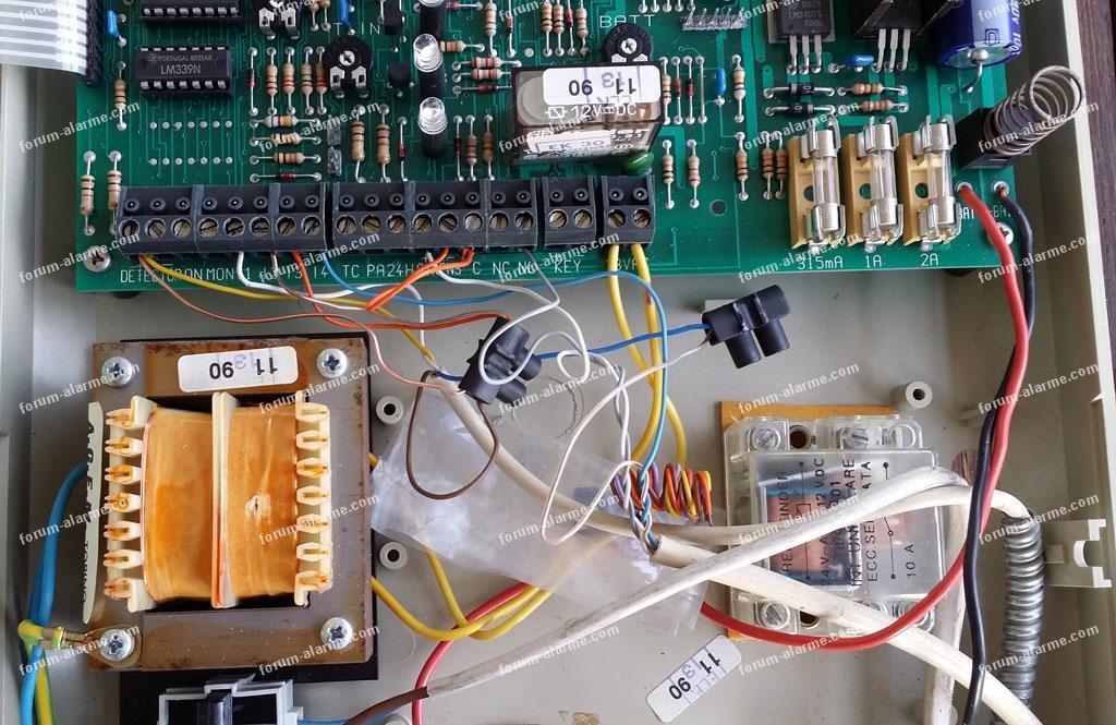 branchement détecteur volumétrique infrarouge