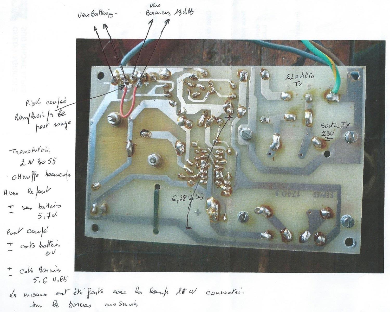 dos circuit chargeur alarme Seriee CSA 04