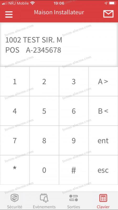 Alarme Galaxy Flex 50 menu application