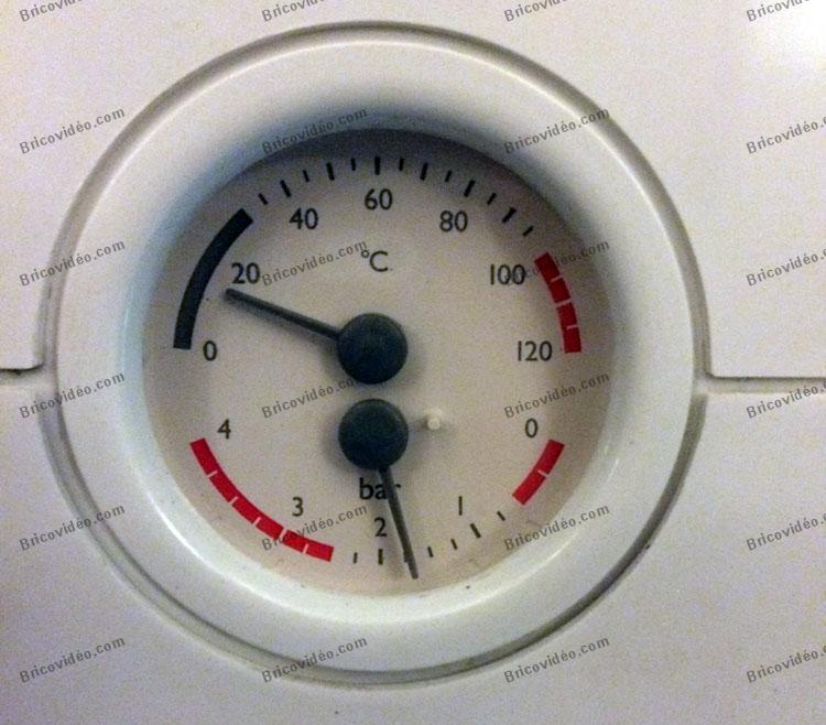 manomètre pression température chaudière de chauffage centrale.
