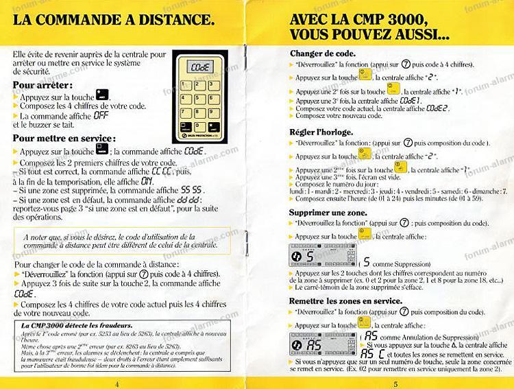 notice alarme cmp 3000