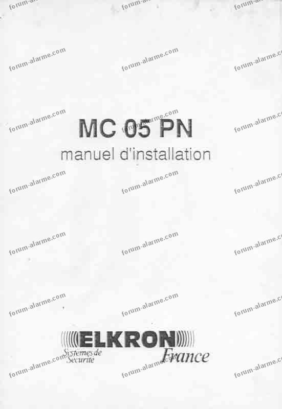 notice centrale elkron mc05pn 01