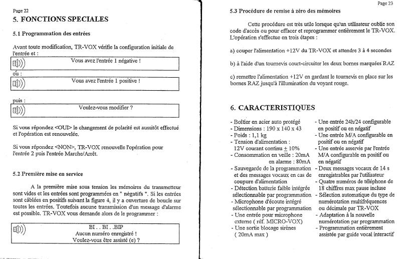 notice transmetteur TRvox 12