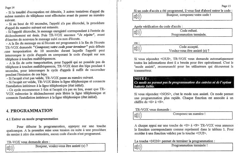 notice transmetteur TRvox 8