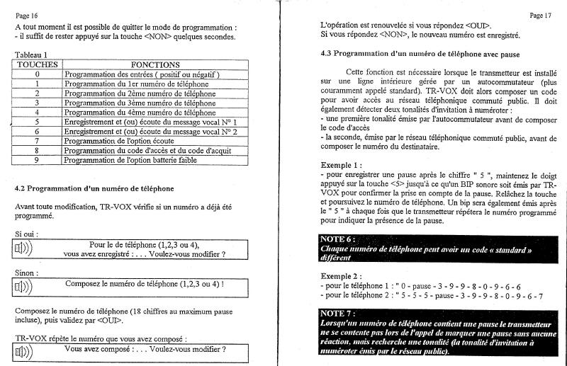 notice transmetteur TRvox 9