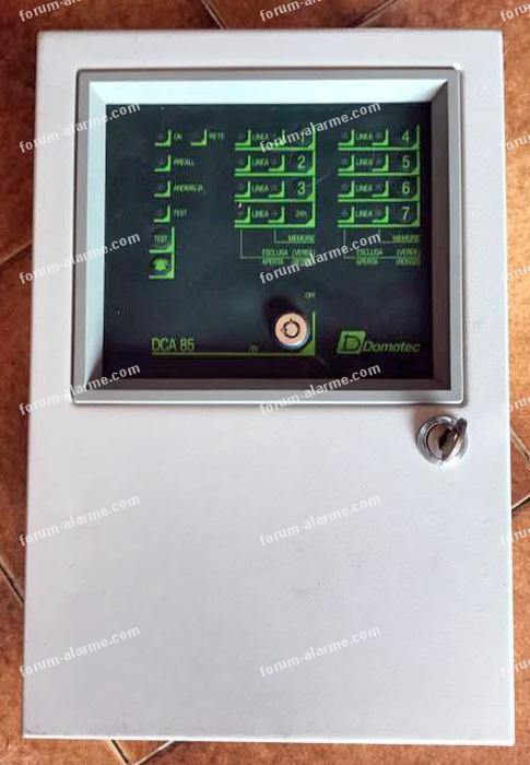 paramétrage centrale Domotec DCA85