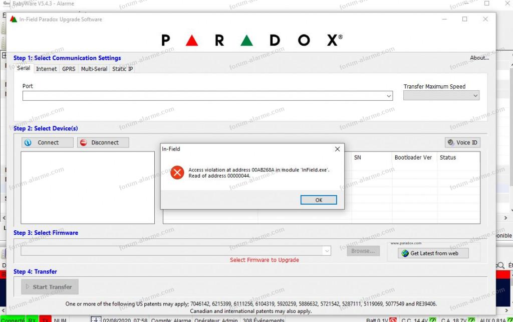 paramétrage alarme Paradox EVOHD