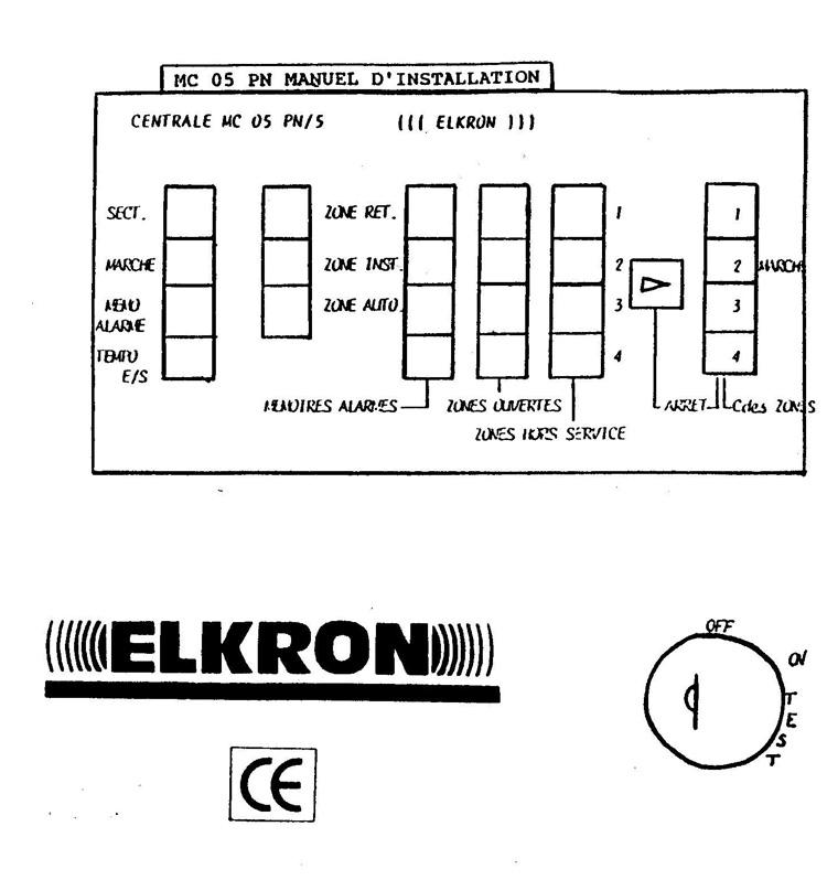 programmation alarme elkron 01