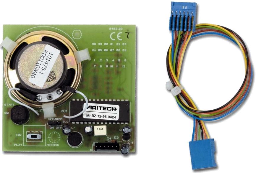 installation programmation carte vocale Aritech