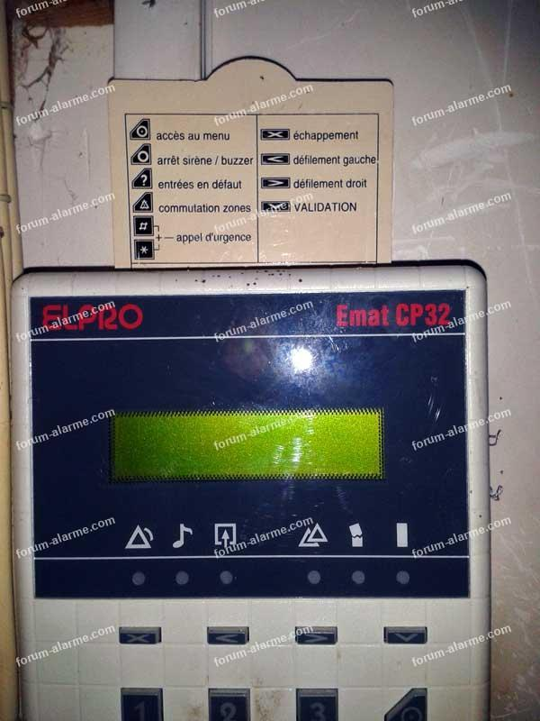 mise en service ancienne alarme ELPRO