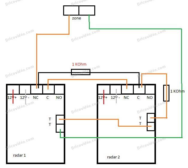 schéma branchement détecteurs