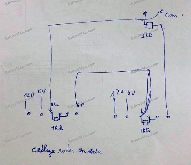 schéma câblage alarme Galaxy Flex 20