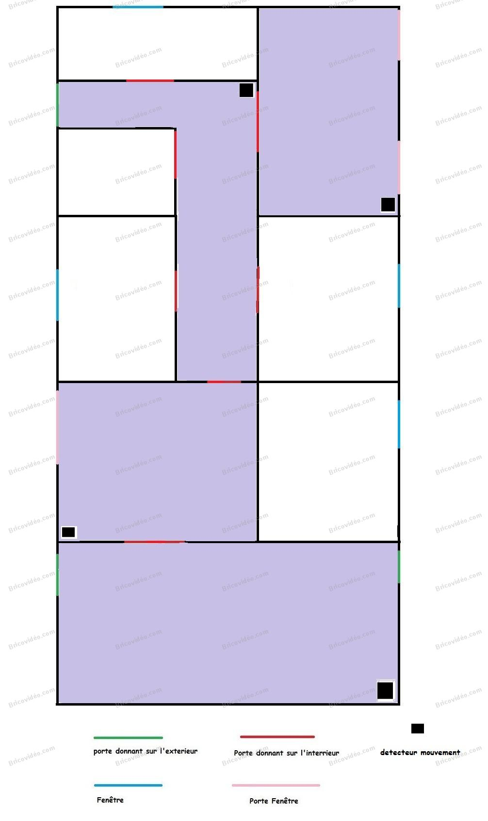 bricovid o alarme conseils installation alarme pour une maison de 100m. Black Bedroom Furniture Sets. Home Design Ideas