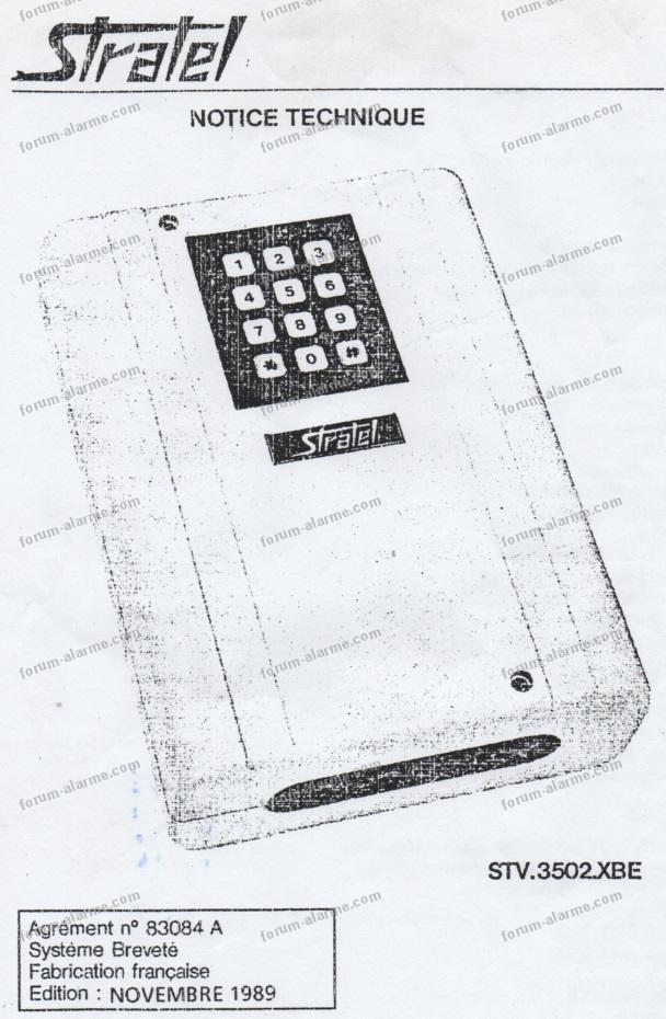 notice installation transmetteur Stratel STV 3502