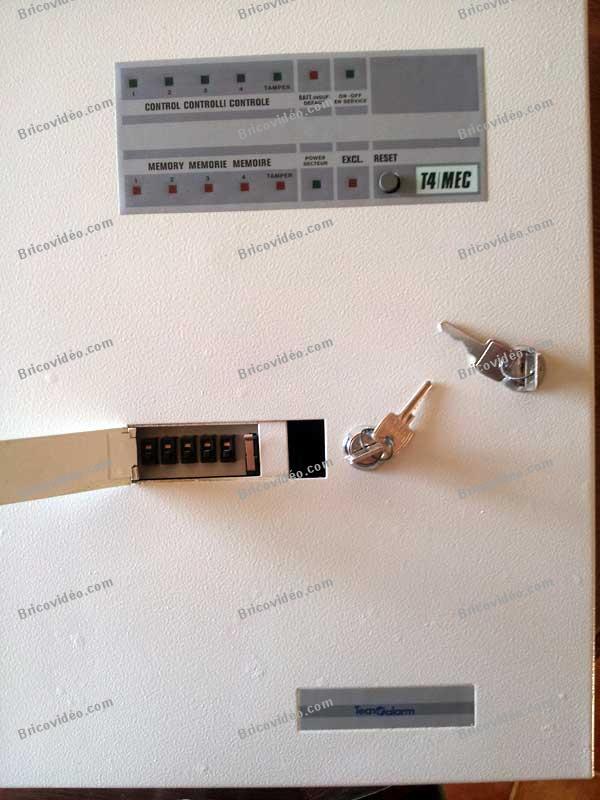 Schéma Tecnoalarm T4/MEC