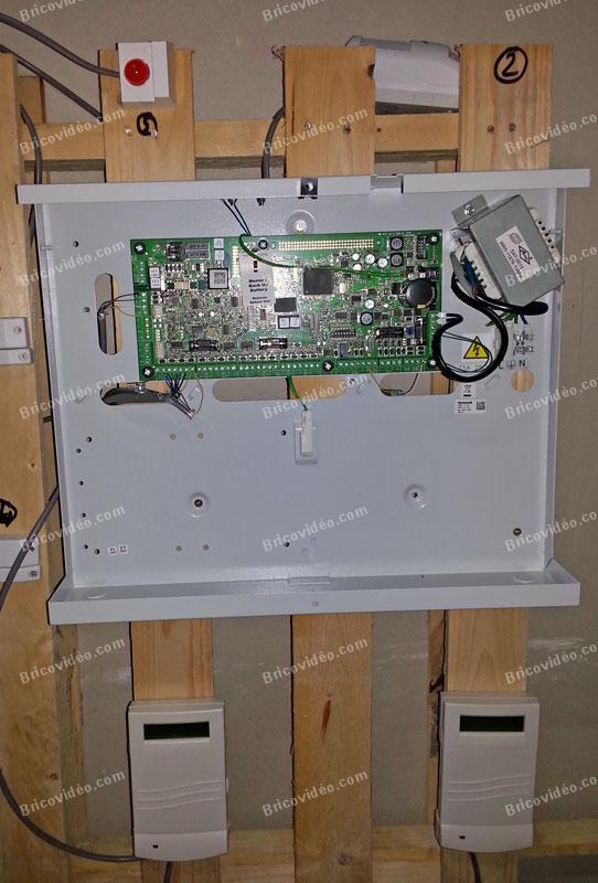 câblages platine pour test et paramétrage avant installation