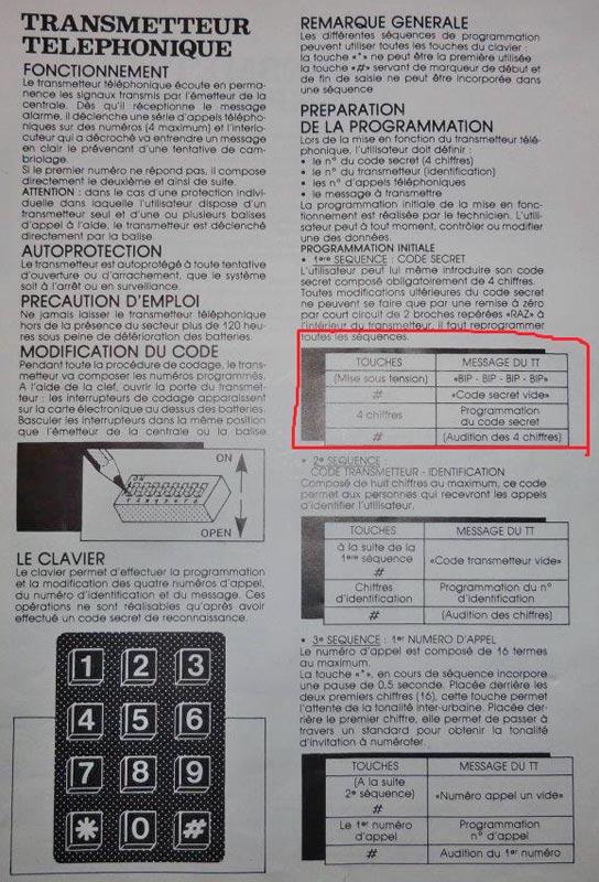 transmetteur alarme TT5V